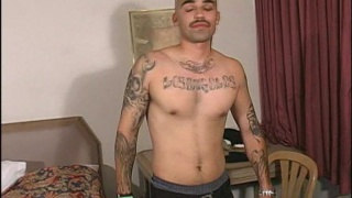 Rough Latin GangstaThug jacks off