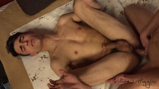 blond guy fucks a handsome straight stud in his first anal sex