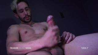 guy sneaks a taste of pre-cum as he pleasures himself