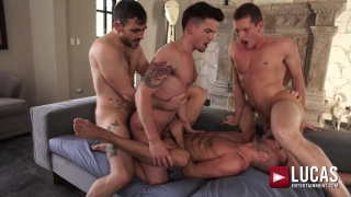 allen king is center of attention in this orgy