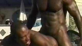 Black muscle thug group fuck
