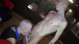 skinny guys fucking in a cruising bar in paris