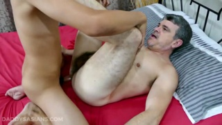 young lad takes his turn fucking his daddy