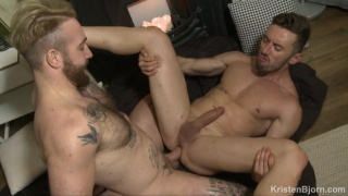 blond hairy italian hunk fucks a smooth latin stud