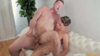 Two Studs with Over-Sized Dicks Bareback Fucking