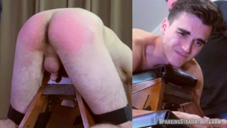 College Boy Gets Ass Paddled Bright Red for Partying