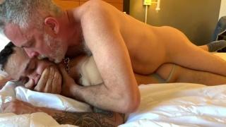 Older Man Cuffs Jock's Mouth While Fucking Him