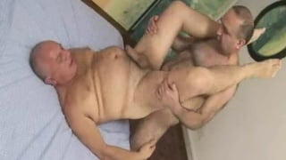 Silver Daddies have gay sex after workout