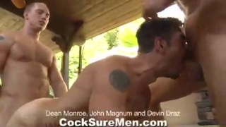 California gay hunk threeway sex