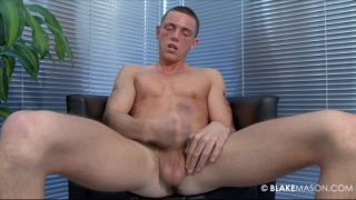 Stroking his uncut 18 year old English cock