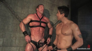 Muscle man in bondage