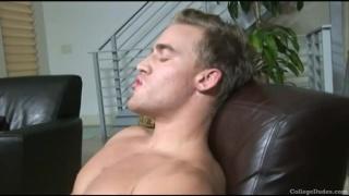 Austin strokes his college boy cock