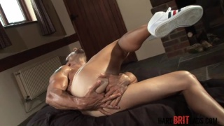 Stretching his hot arse open