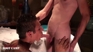 boys introduction to cock sucking and he likes it