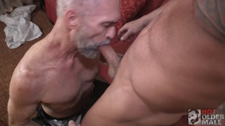 hairy muscle hunk rams guys ass on the couch