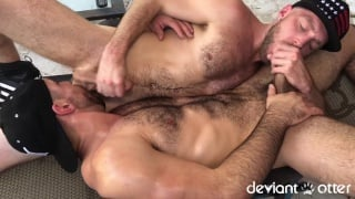 furry guys 69 sucking before fucking on the floor