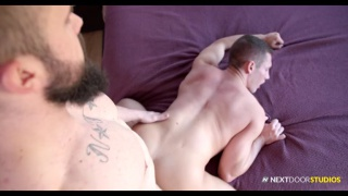 sexy bearded hipster fucks a hot guy doggy style