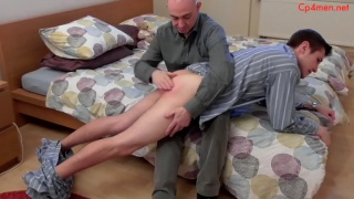 guy thinks it's too early for bedtime, he gets a spanking