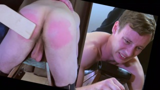straight guy gets ass paddled & caned