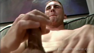 two marines jerking their dicks side by side