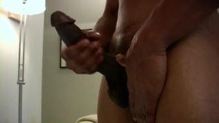 Black Muscle Hunks masturbates