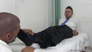 johnny hazzard returns in a foot worship video