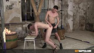 young master makes good use of hung slave boy
