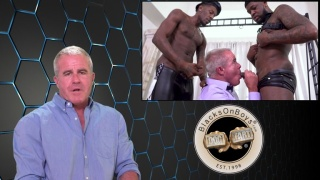 Silver Daddy Gets Spit-Roasted by Hung Black Men