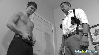 Handsome Cop Sucks Twink's Dick Before Fucking Him