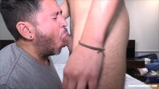 Cocksucker Chokes But Swallows this Big Dick