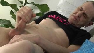 Adam strokes his daddy dick