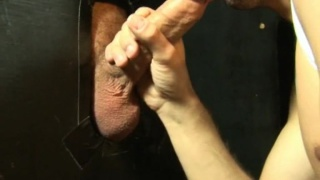 Gloryhole blow job