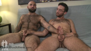 furry muscle bear fucks a bespectacled slim guy