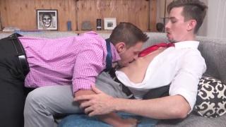 men in sheer dress socks get horny together