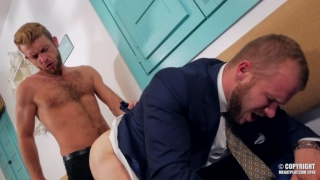 bearded waiter fucks his sexy customer right there in the restaurant
