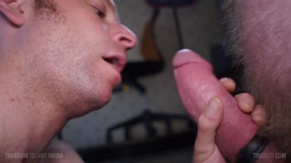 cocksucker admires fat dick before swallowing it