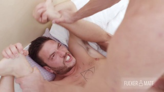 bearded stud gets his ass filled with this huge cock