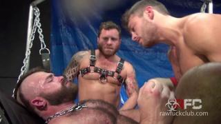 six men fuck jonah fontana in a sling