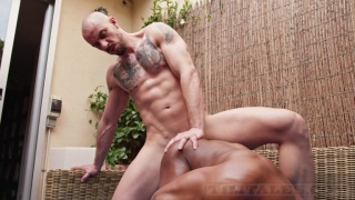 spanish bottom ass up in the air gets screwed by muscle hunk