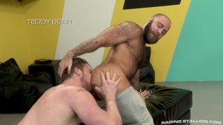 super hung blond man eats hairy dude's ass before fucking it