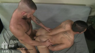 two hot men rimming each other's assholes before fucking