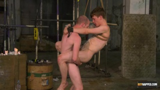 master fucks his boy in a rope swing