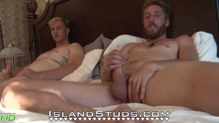 hung room mates & straight guys jack off together