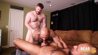 beefy cub fucks a muscle bear sucking dick