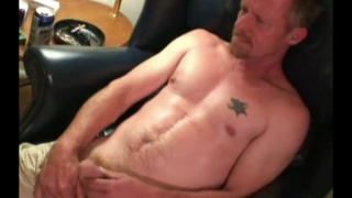 redneck with goatee has a healthy pair of nuts