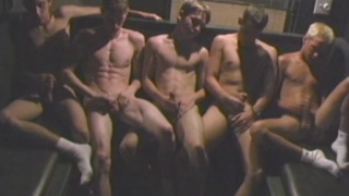 five delicious twinks in sleazy back room of a bar