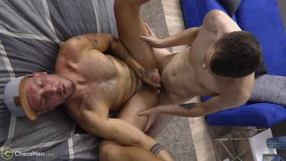 usually a top, muscled stud flip-fucks with a younger guy