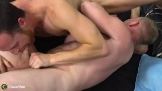 two horny jock dads sucking dick 69 style