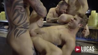small spanish lad gets gang banged by three hung men