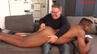 college boy gets spanked for all the bad things he's done on campus